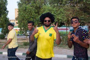 خوشحالی و جشن مردم آبادان،پس از پیروزی این تیم بر فجر سپاسی شیراز و صعود به لیگ برتر