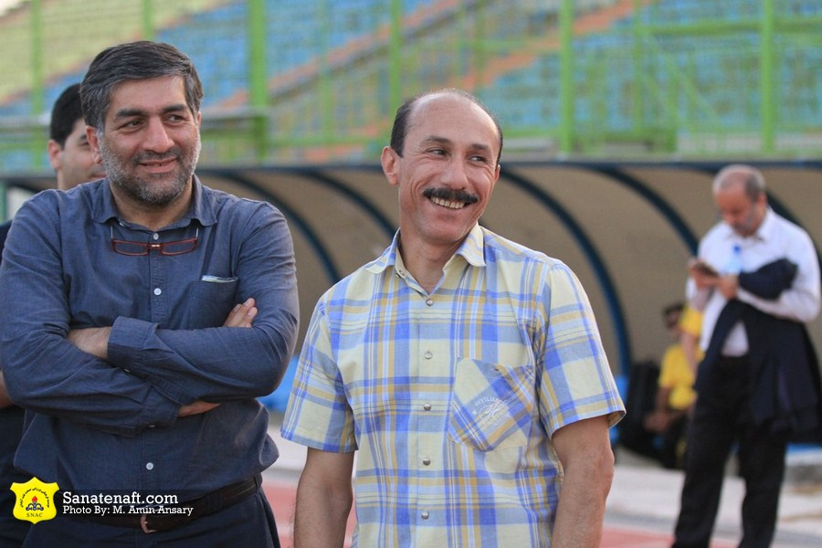 ابراهیم تهامی و امید شریفی نسب در میان طلایی پوشان آبادان